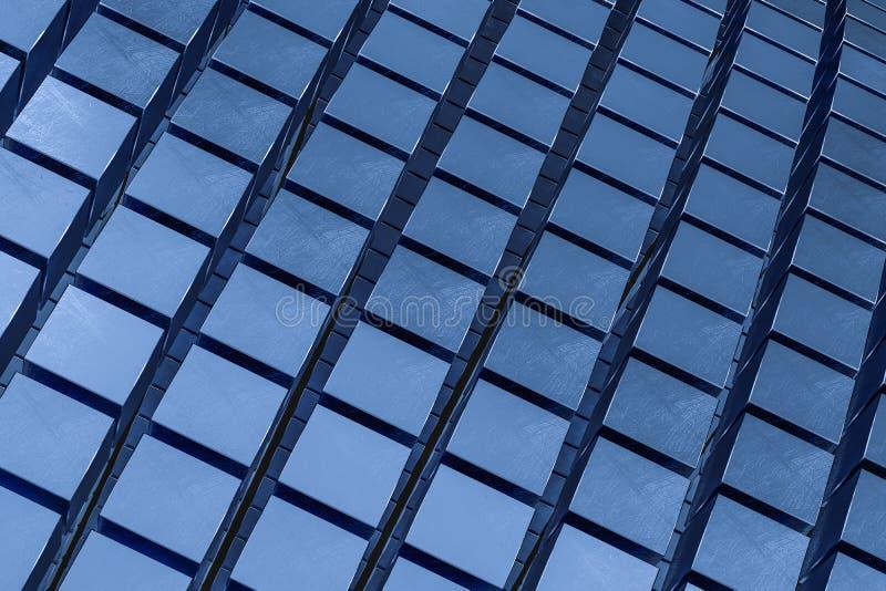 3d representación, fondo abstracto de los ladrillos del cubo, fondo oscuro fotografía de archivo