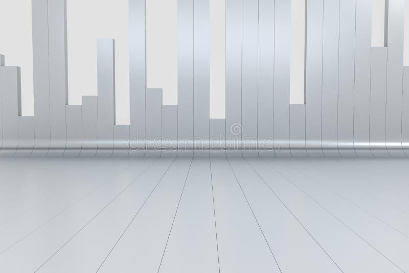 3d representación, fondo de la carta del gráfico, gráfico de negocio fotografía de archivo