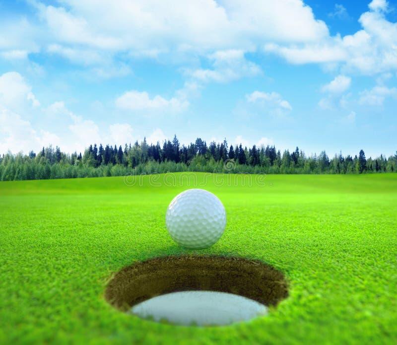 3D representación, pelota de golf, fotos de archivo
