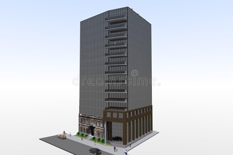 3d residential house render vector illustration