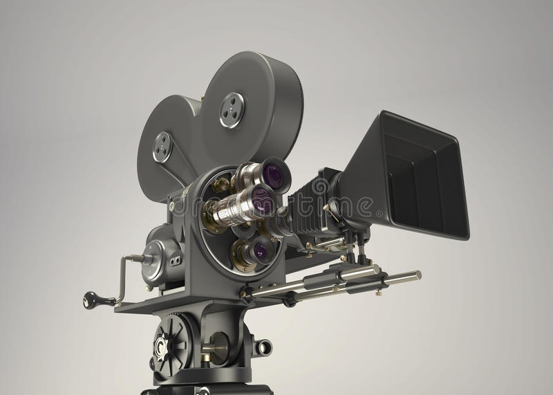 3d Retro kinowa kamera ilustracja wektor