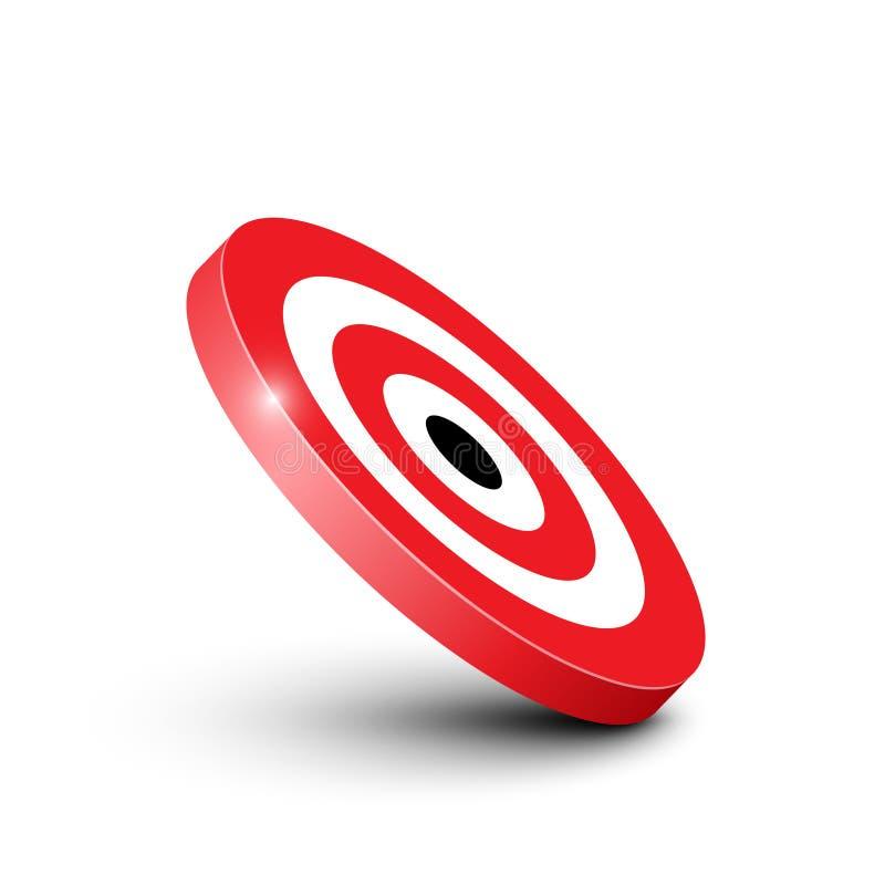 3D rewolucjonistki i bielu Bullseye celu ikona ilustracji
