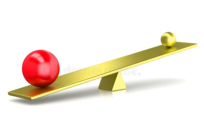 3D rinden bolas comparan ilustración del vector