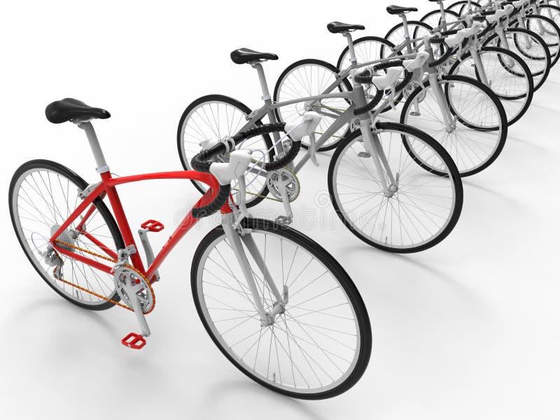 3D rinden - concepto apuntado de la bicicleta libre illustration