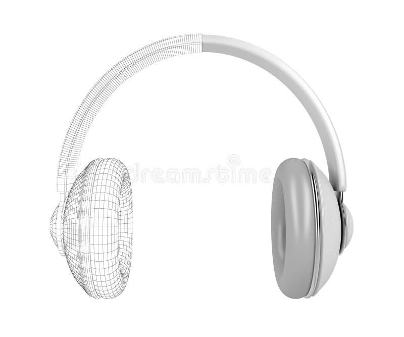 3D rinden de auriculares grandes libre illustration