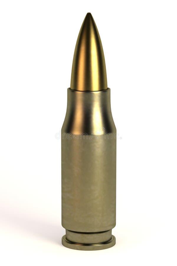 3d rinden de bala ilustración del vector