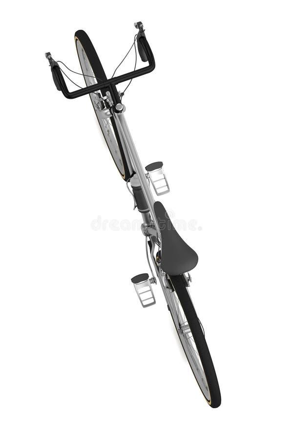 3d rinden de competir con la bicicleta ilustración del vector