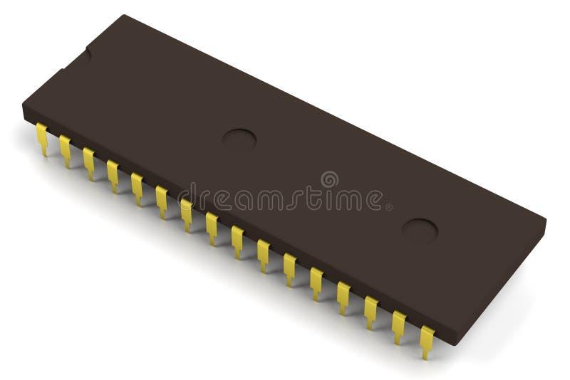 3d rinden de componente electrónico stock de ilustración