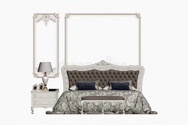 3d rinden de dormitorio clásico libre illustration