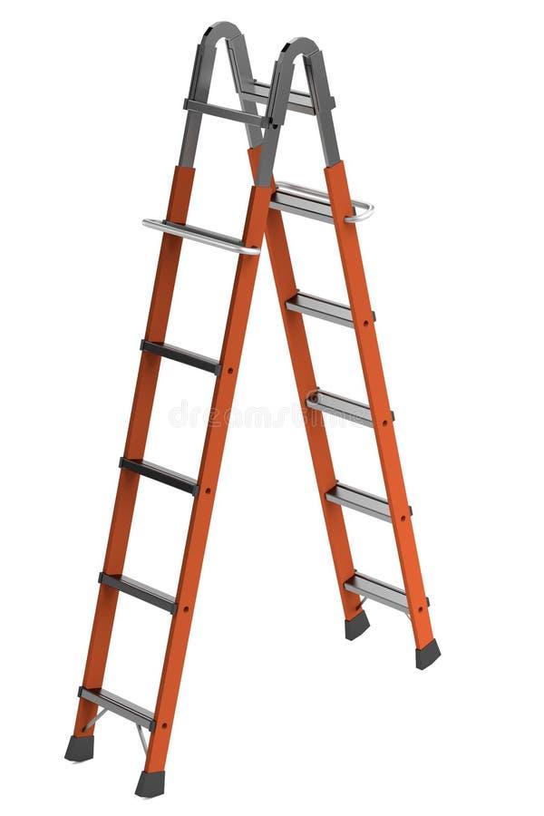 3d rinden de escalera stock de ilustración