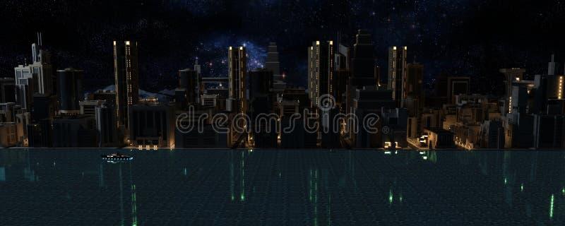 3D rinden de la ciudad imagen de archivo