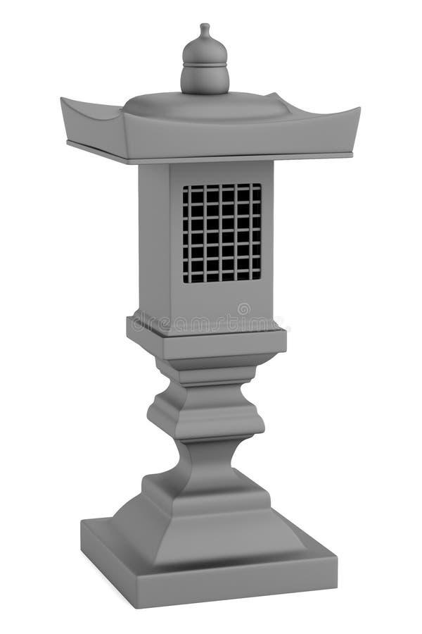 3d rinden de la estatua del jardín libre illustration