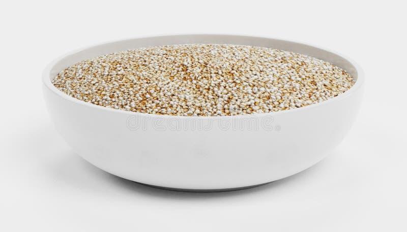 3D rinden de la quinoa en cuenco libre illustration
