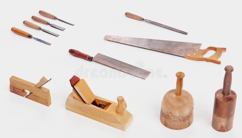 3d rinden de las herramientas de la carpinter?a libre illustration