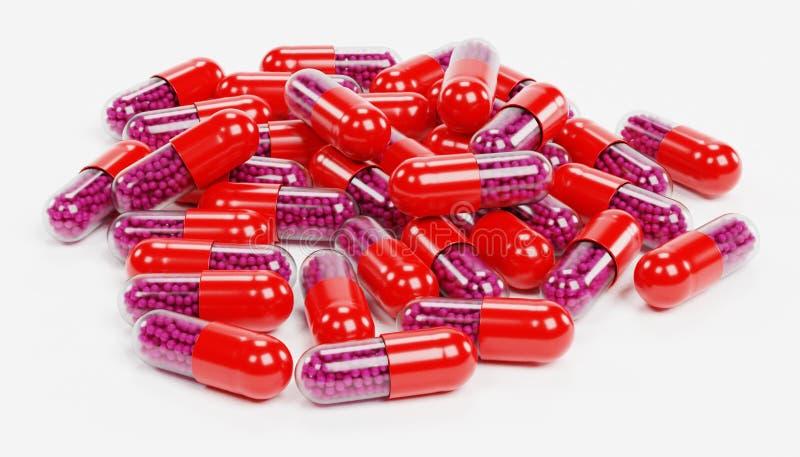 3D rinden de medicina de las píldoras stock de ilustración