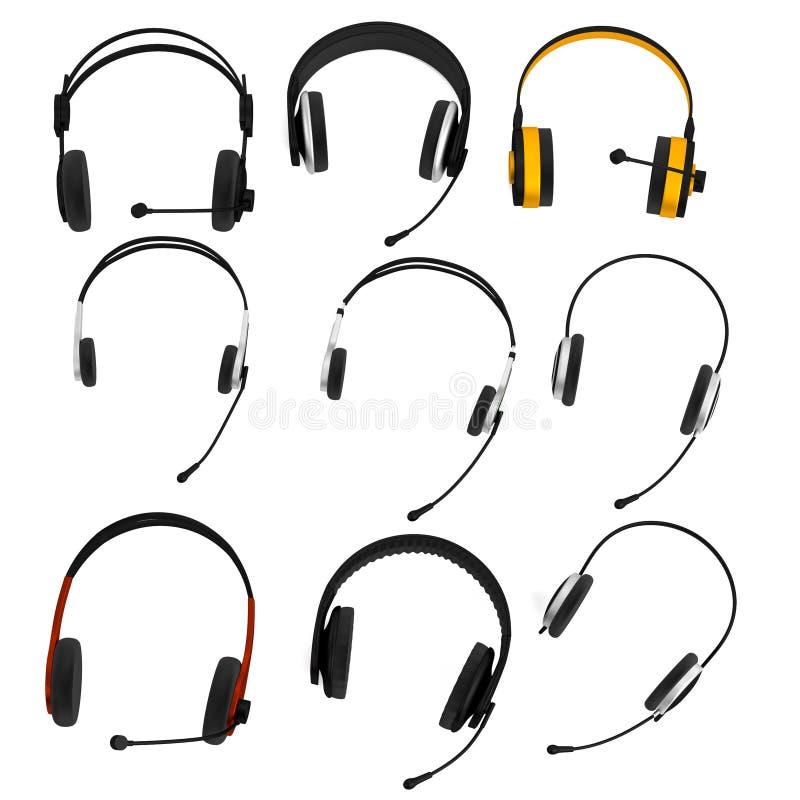 3d rinden de sistema de los auriculares libre illustration