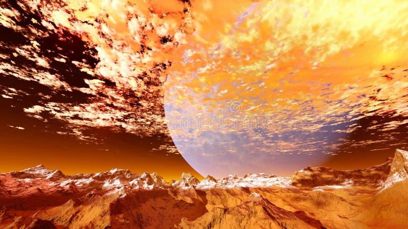 3d rinden de un planeta extranjero imagen de archivo libre de regalías