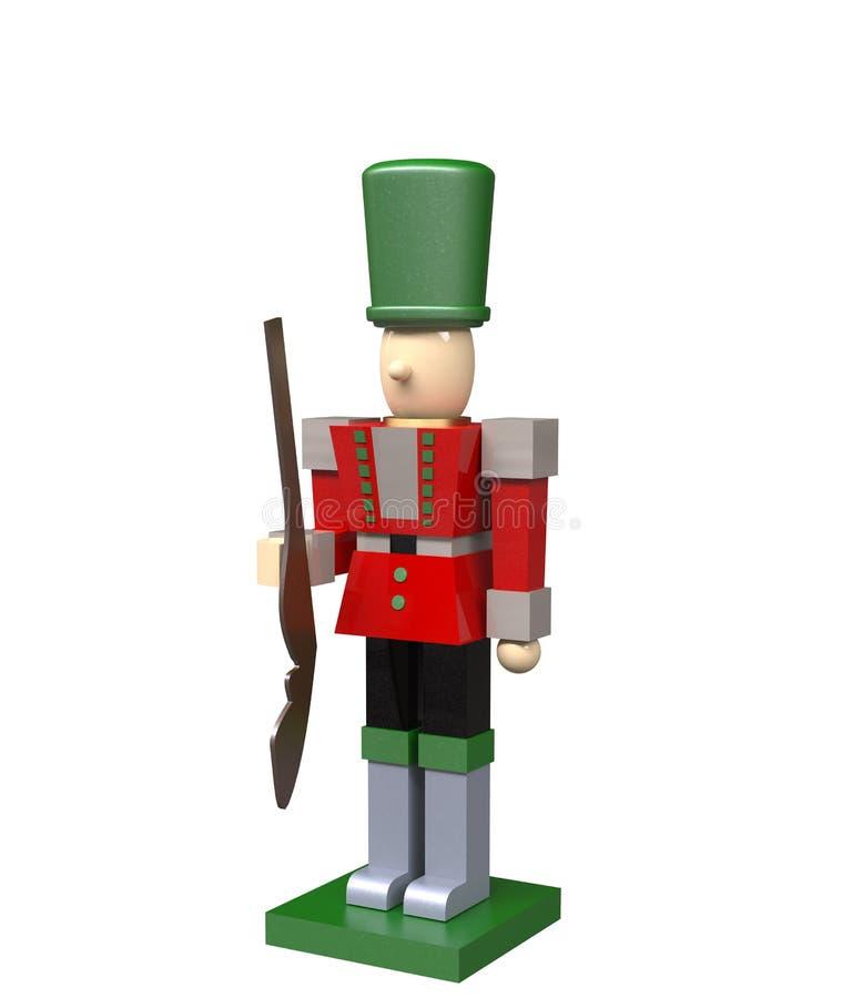 3d rinden de un soldado de juguete bloqueado imagenes de archivo