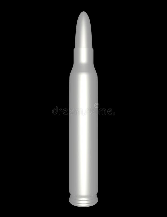 3d rinden de una bala de plata stock de ilustración