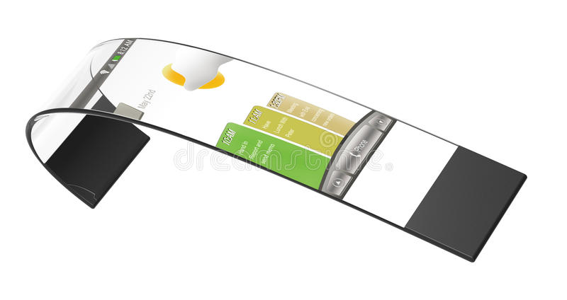 Pulsera del móvil de la nueva tecnología libre illustration