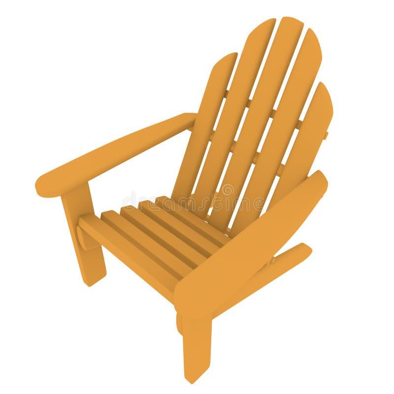 3d rinden de una silla de Adirondack ilustración del vector