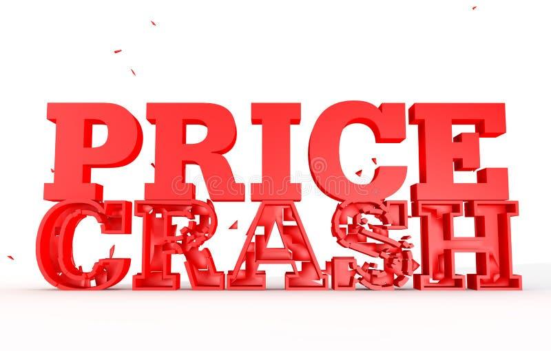 3d rinden del desplome del precio de la palabra para las ventas foto de archivo