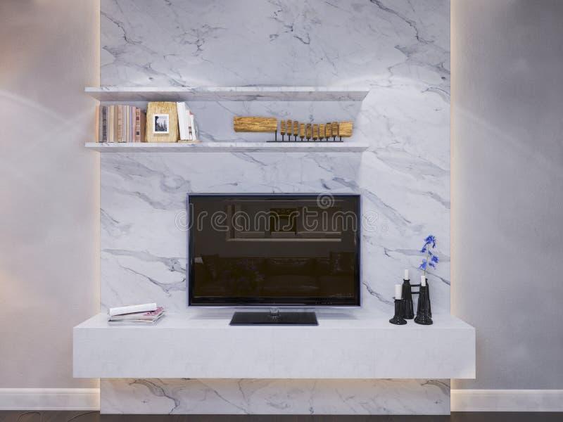 3d rinden del diseño interior de una sala de estar libre illustration
