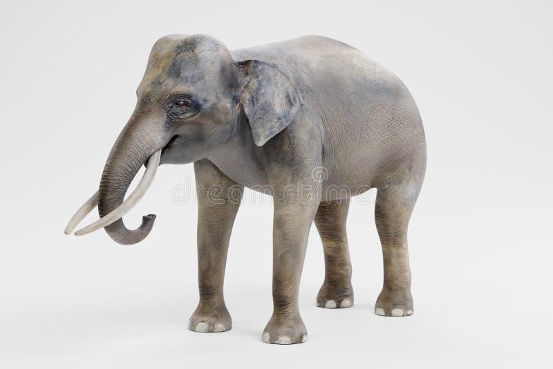 3D rinden del elefante asiático - varón ilustración del vector