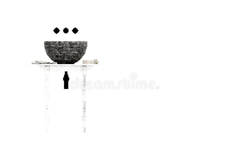 3d rinden del lavabo libre illustration