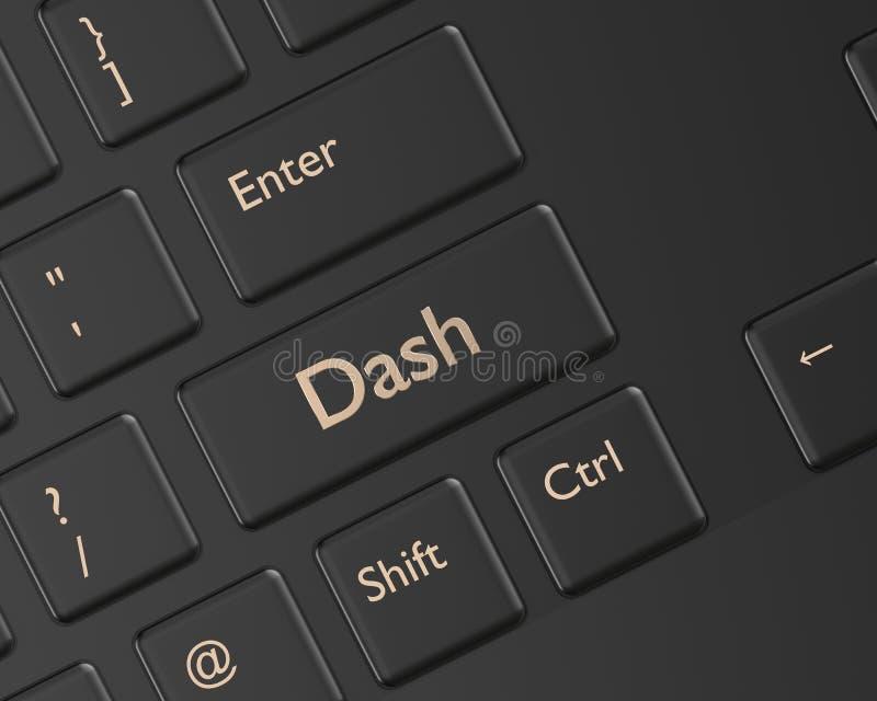 3d rinden del teclado de ordenador con el botón de la rociada libre illustration