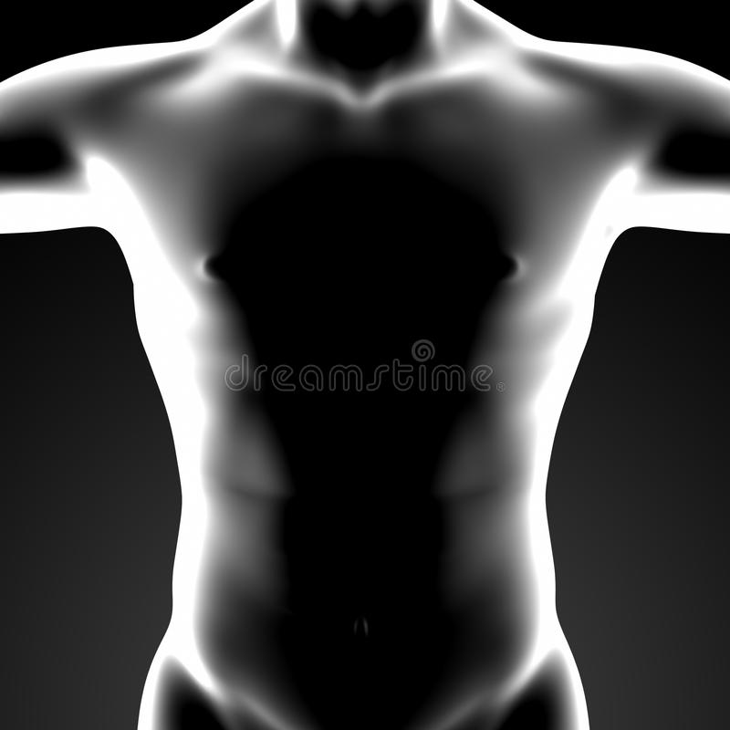 3d rinden el cuerpo humano stock de ilustración