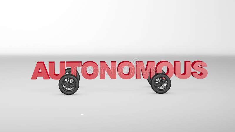 3D rinden el ejemplo del coche autónomo libre illustration