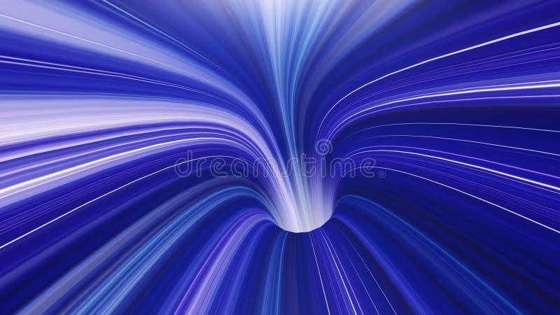3d rinden el fondo del túnel de Vortexx del tiempo del Wormhole de VJ libre illustration