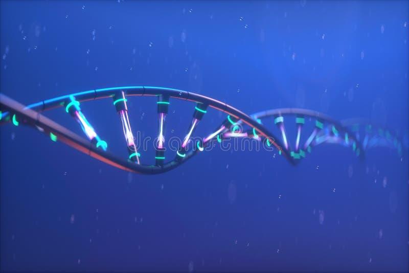 3D rinden el modelo tecnológico de la DNA del ejemplo foto de archivo libre de regalías