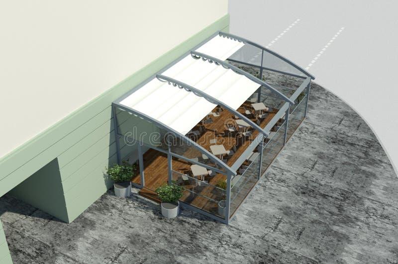 3D rinden: modelo del pequeño pabellón imagen de archivo
