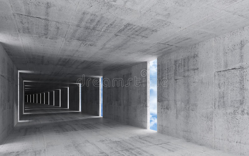 3d rinden, resumen el fondo interior concreto sucio libre illustration