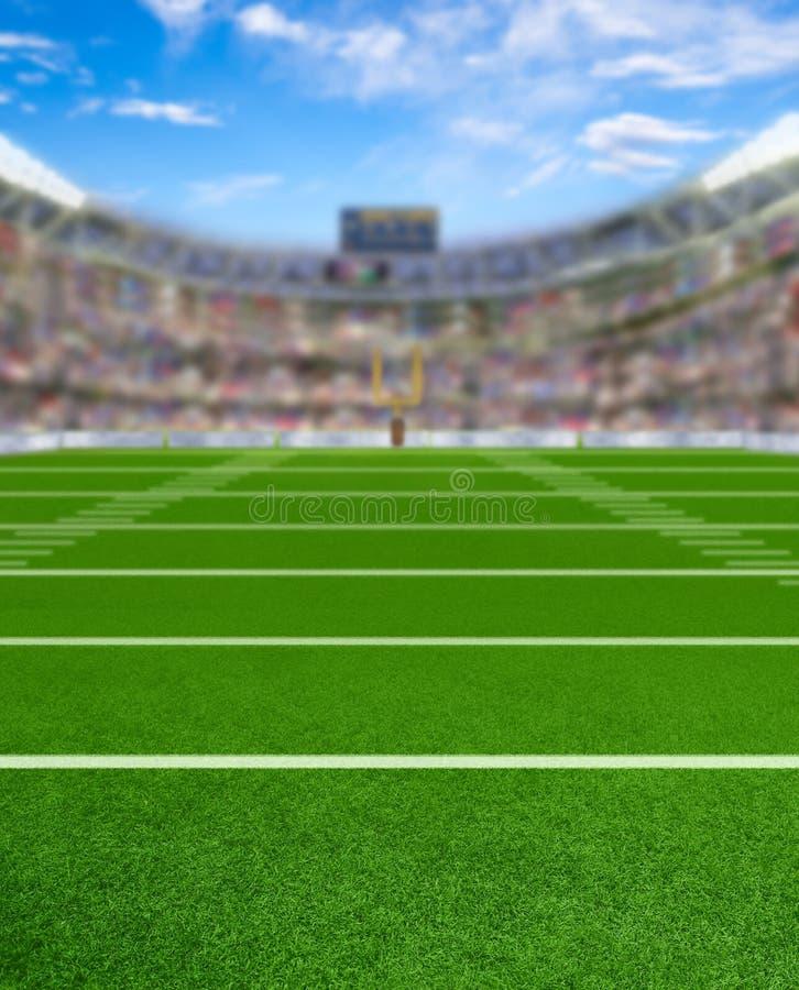 3D rindió el estadio de fútbol con el espacio de la copia fotos de archivo libres de regalías