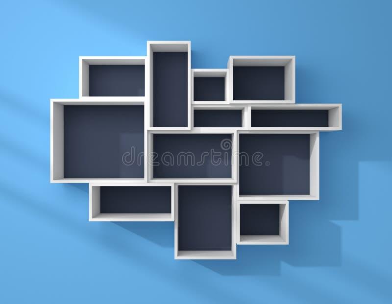 3d rindi estantes modernos stock de ilustraci n for Estantes modernos