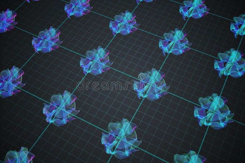 3D rindió la ilustración stock de ilustración