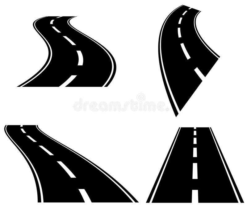 3d roads in perspective royalty free illustration