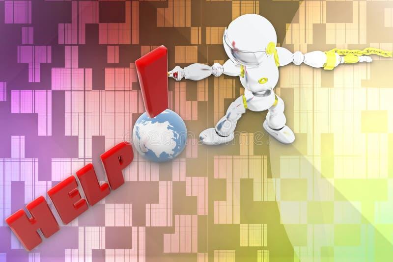 Download 3d robot help illustration stock illustration. Illustration of isolated - 43042548