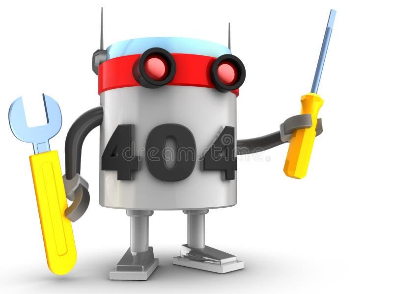 3d robot nad bielem ilustracji