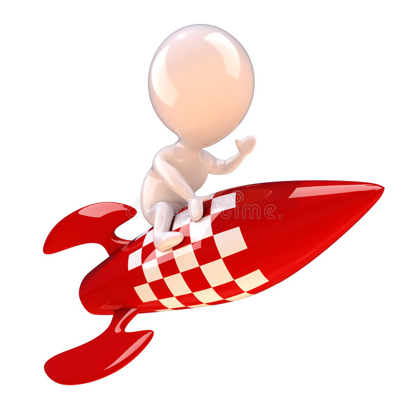Download 3d Rocket man stock illustration. Illustration of cartoon - 39304465