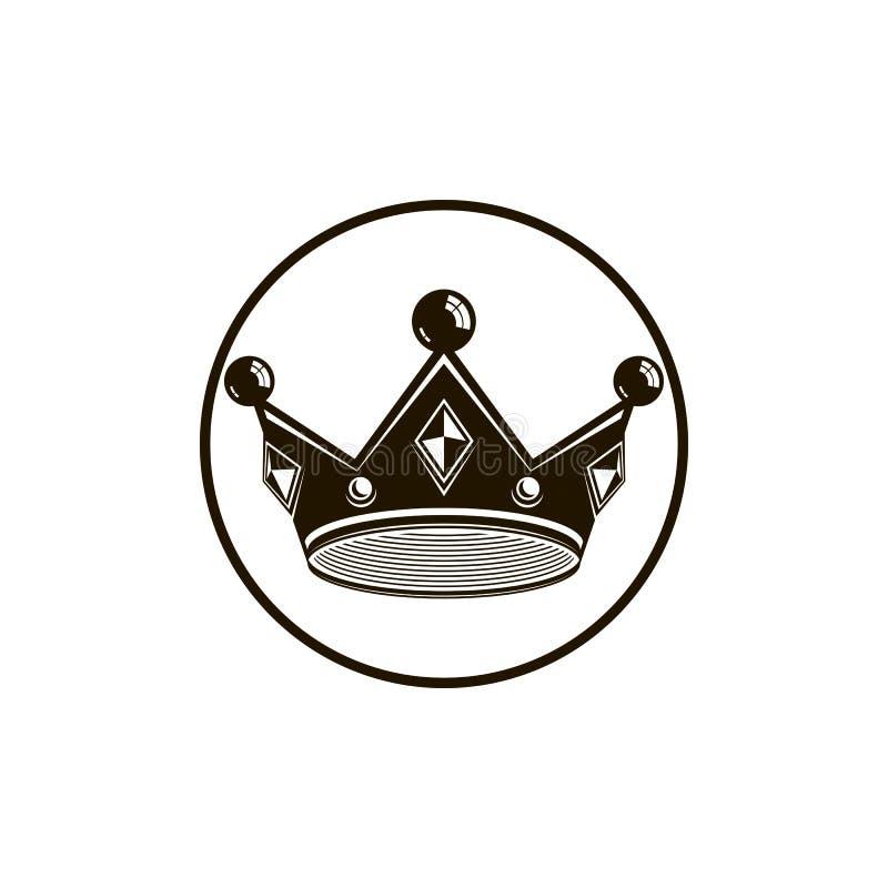 3d rocznika korona, luksusowa coronet ilustracja Klasyczny imperiał ilustracji
