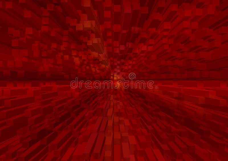 3d rojo l estructura en perspectiva dinámica imagen de archivo libre de regalías
