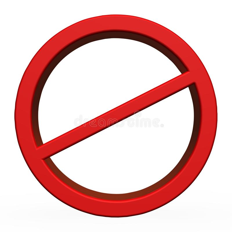 3D Rood Geen teken stock foto