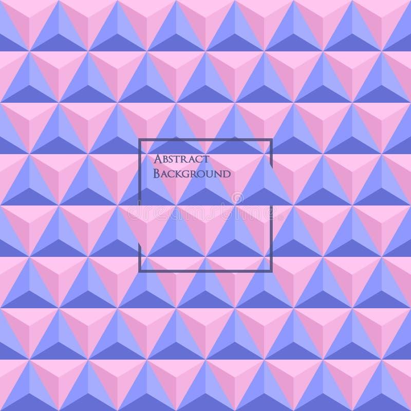 3d Rose Quartz en Sereniteit gekleurd driehoeks naadloos patroon vector illustratie