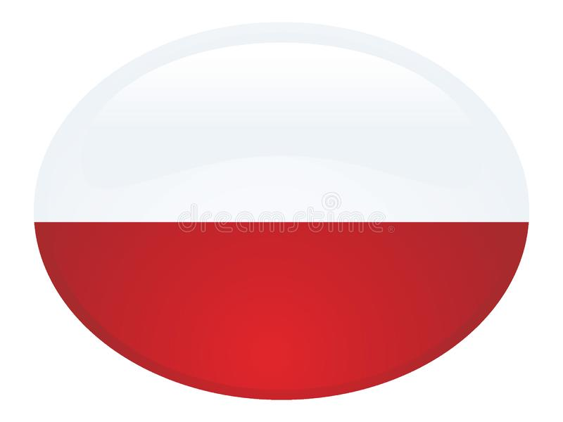 3D Round Flag of Poland. Vector illustration of the 3D Round Flag of Poland vector illustration