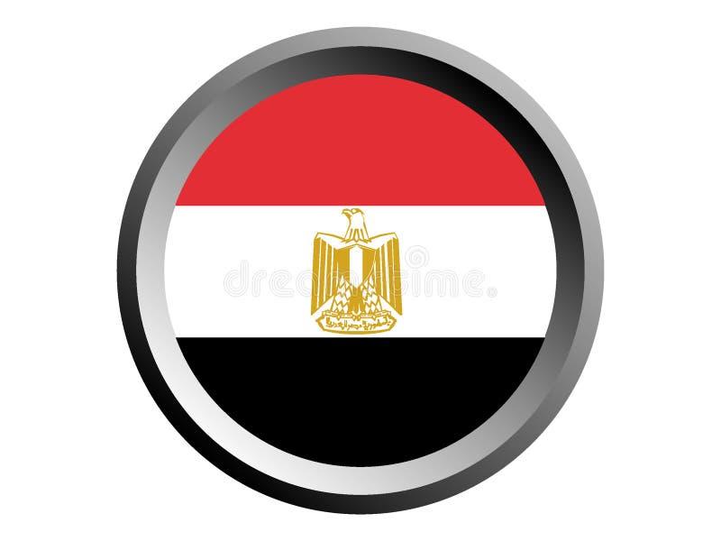 3D Round flaga Egipt royalty ilustracja