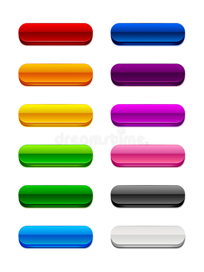 3D Rounded Buttons Stock Image